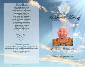 funeral program paper funeral program templates dove gold cross