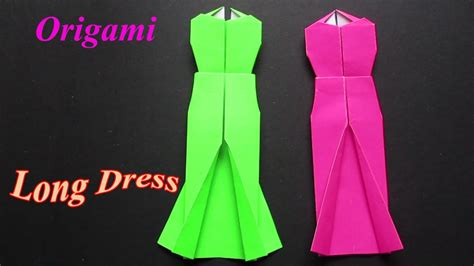 origami dress easy origami dress step  step youtube