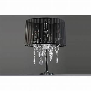 Lampe De Chevet Baroque : lampe de chevet baroque pampilles lampe de table chandelier tissu noir achat vente lampe ~ Teatrodelosmanantiales.com Idées de Décoration