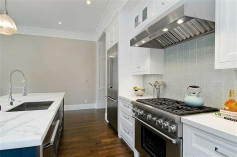 Benjamin Moore Balboa Mist   Contemporary   kitchen