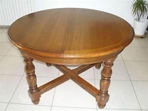 Table En Chene Massif Avec Rallonges : table ronde ovale rallonge clasf ~ Teatrodelosmanantiales.com Idées de Décoration