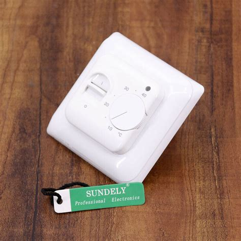 brand new white manual thermostat for underfloor heating c w floor sensor ip20 ebay
