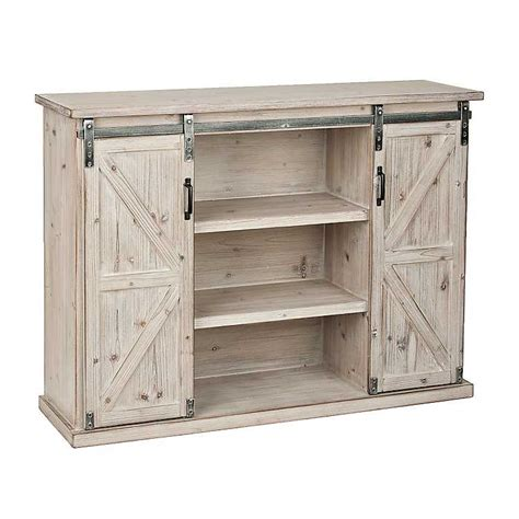 Natural Farmhouse Sliding Door Cabinet Kirklands