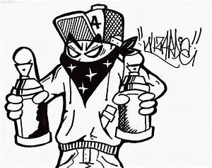 Graffiti Wall: Graffiti characters gangster