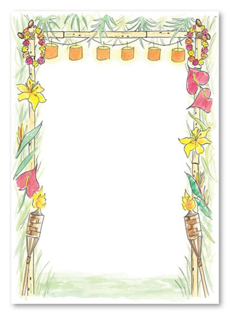 hawaiian invitations templates