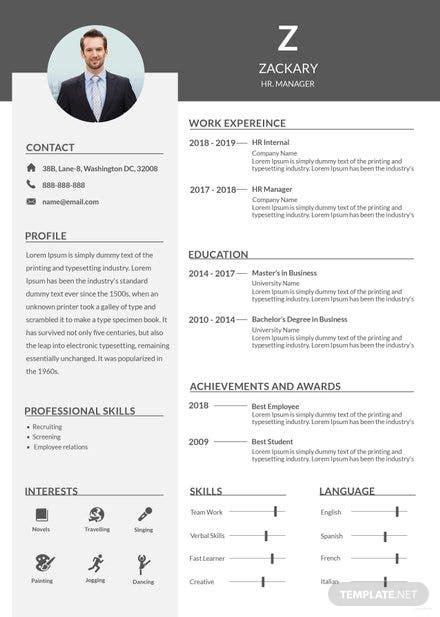 architect resume template  adobe photoshop