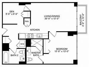 1 Bedroom Plus Den Floor Plan Of Property Trio In Chicago
