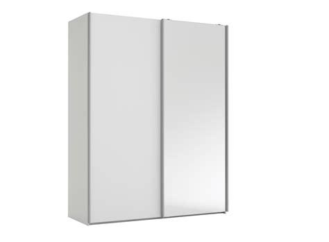 armoire chambre fly armoire 2 portes l150 p61 cm blanc miroir armoire