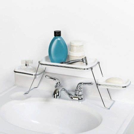 zenna home   faucet shelf trays whitechrome