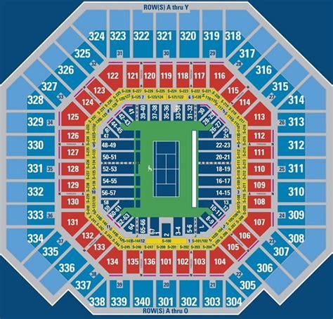 arthur ashe stadium seating chart us open seating chart