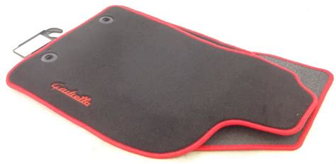 Alfa Romeo Genuine Tailored Giulietta Car Floor Mats Red