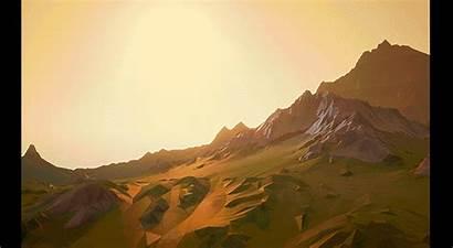 Stylized Landscape Sunrise Ue4 Banner
