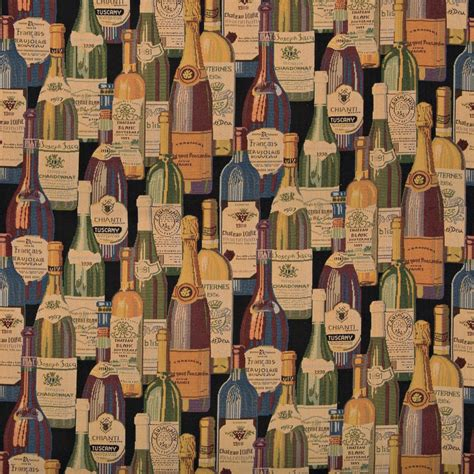 Boat Names With Black In Them by French And Italian Wine Bottles Themed Tapestry