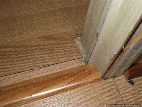 laminate flooring doorway bad laminate installation repair