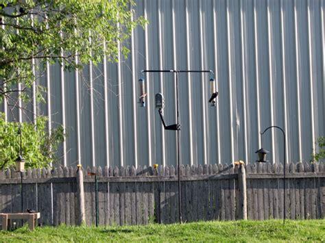 diy bird feeder pole bird feeding pole system 187 powered by birds