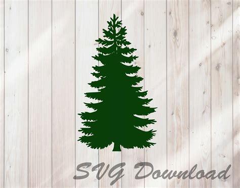 pine tree christmas tree svg instant  craft