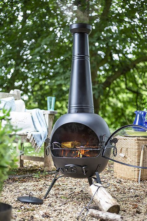 la hacienda extra large steel cm chiminea patio heater