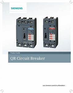 Qr Circuit Breaker Product Guide Usa Siemens Com