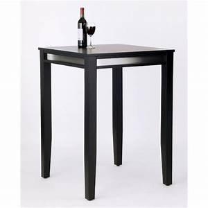 Table Bar But : solid wood bar height pub table in black 5123 35 ~ Teatrodelosmanantiales.com Idées de Décoration