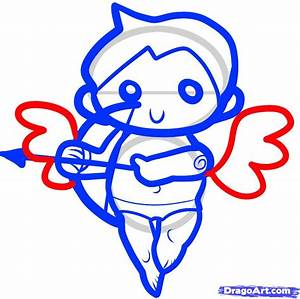 How to Draw Cupid for Kids, Step by Step, Valentines ...