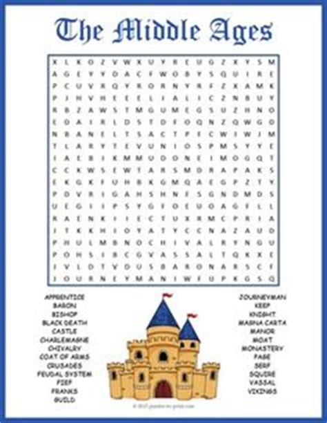 printable word search middle ages 1000 images about middle ages on middle ages