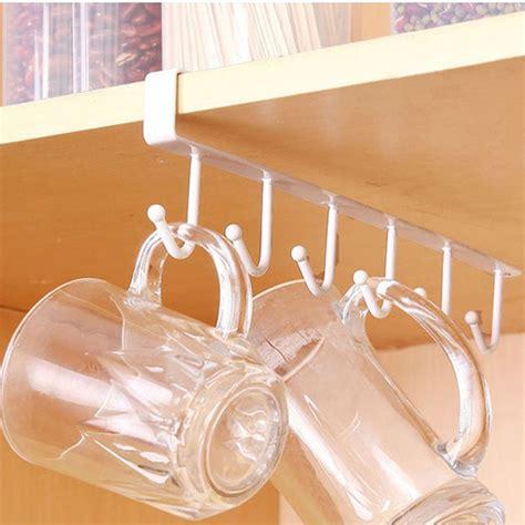 cup holders for kitchen cabinets 6 hooks cup holder hang kitchen cabinet shelf 8518