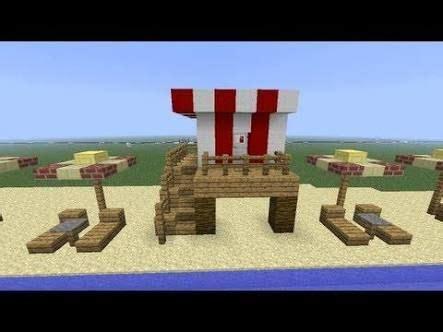 minecraft lifeguard beach chairs ideas  chasrs