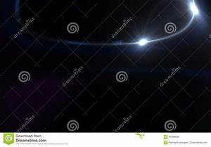 Abstract, Digital, Lens, Flare, Light, With, Over, Black