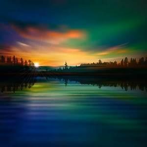 Beautiful sunrise landscape vector set Free vector in ...