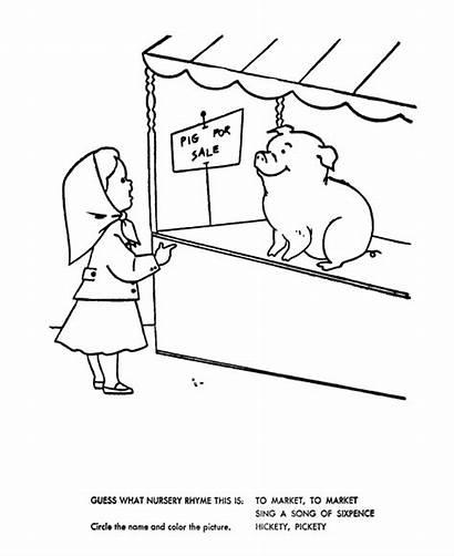 Nursery Market Rhymes Coloring Pages Quiz Goose