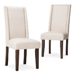 charlie modern wingback dining chair beige se target