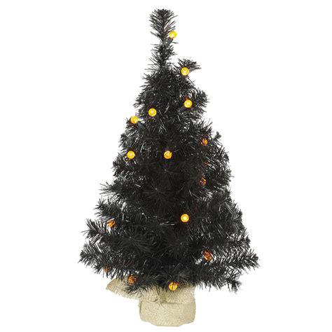 vickerman 24 quot prelit black pine artificial christmas tree
