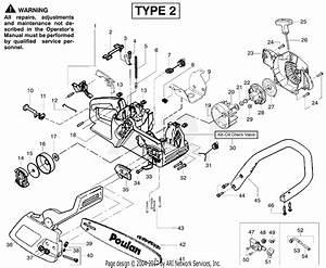 Poulan 1950le Gas Saw Type 2  Woodshark 1950le Gas Saw