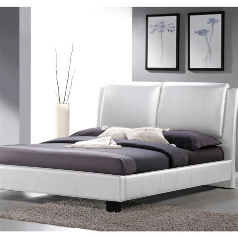baxton studio king bed baxton studio sabrina white king upholstered bed 28862