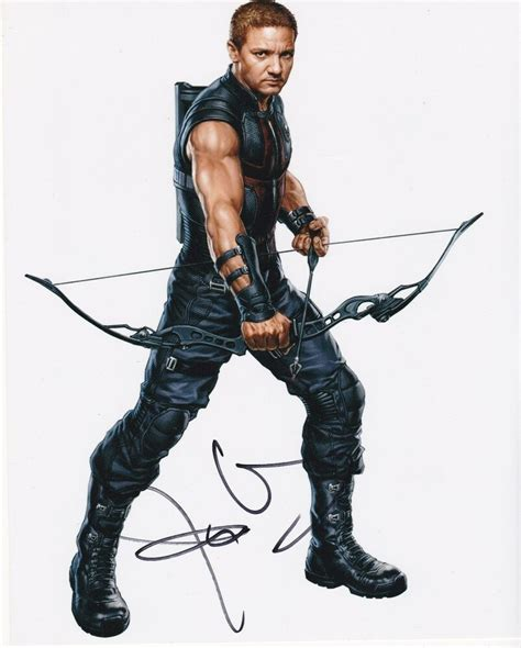 Jeremy Renner Signed Color Photo Hawkeye Avengers Ebay