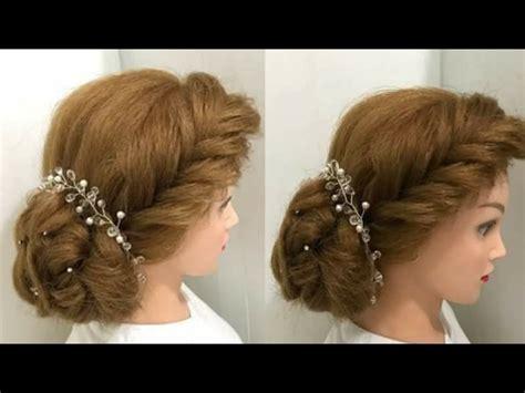 beautiful hairstyles  wedding  function bun braid youtube