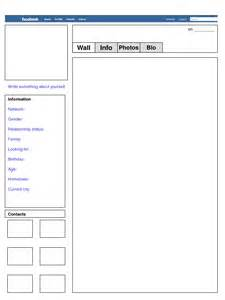 Facebook Profile Template Fill In