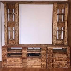 Paletten Möbel Bauen : ein tv m bel aus paletten selber bauen heimwerkerking ~ Sanjose-hotels-ca.com Haus und Dekorationen