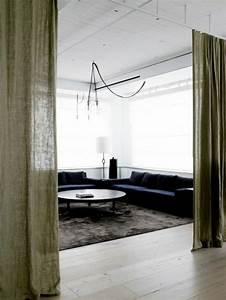 la separation de piece amovible optez pour un rideau With tapis d entrée avec canapé amovible