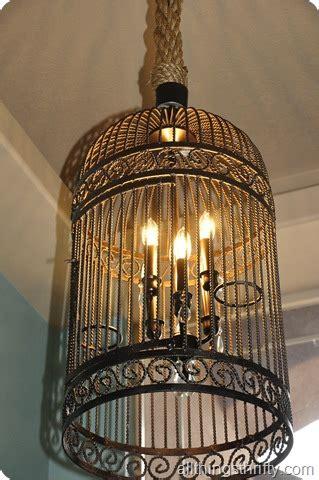 Birdcage Chandelier restoration hardware birdcage chandelier the thrifty way