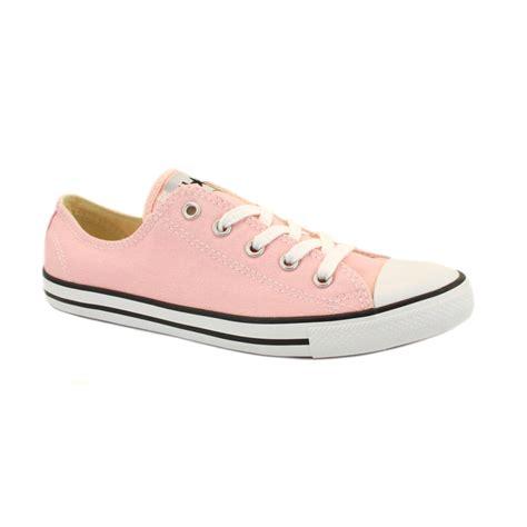 light pink converse converse chuck dainty ox 537203c unisex canvas
