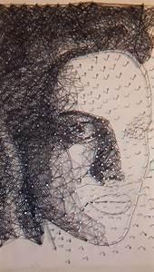 Bild Mit Nägeln Und Faden : wip kunst mit nagel und faden faden portrait nagel mischtechnik von michael kunle bei ~ Frokenaadalensverden.com Haus und Dekorationen