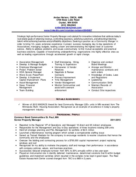 Apartment Community Manager Resume by Property Manager Resume Property Manager Resume Sle Fashionable Ideas Property