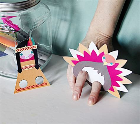 thanksgiving printable finger puppets festival collections