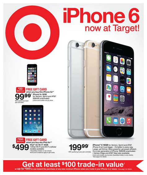 target iphone deals free target gift cards w the purchase of select apple