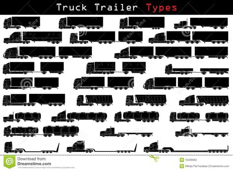 Truck Trailer Types Stock Vector. Illustration Of Freight