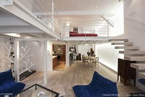loft de 110m2 plus lumineux et fonctionnel fables de murs With deco de terrasse exterieur 16 mezzanine chambre bureau design industriel cdesign