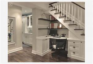 ideas for turning a basement space into a home office With basement home office design ideas
