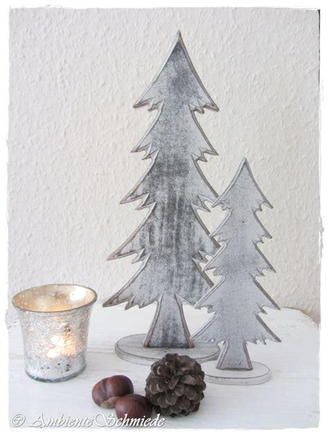 Weihnachtsdeko Landhausstil Weiß by Holz Tanne Grau Wei 223 Set 18 28cm Deko Weihnachten