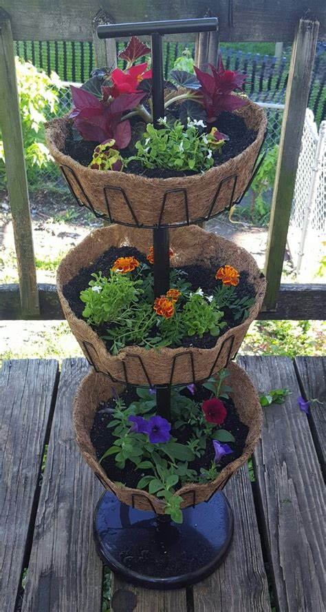 Outdoor Pots And Planters by Three Tier Planter Used An Shoe Rack Bought From A